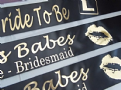Black & Gold Hen Night Sashes